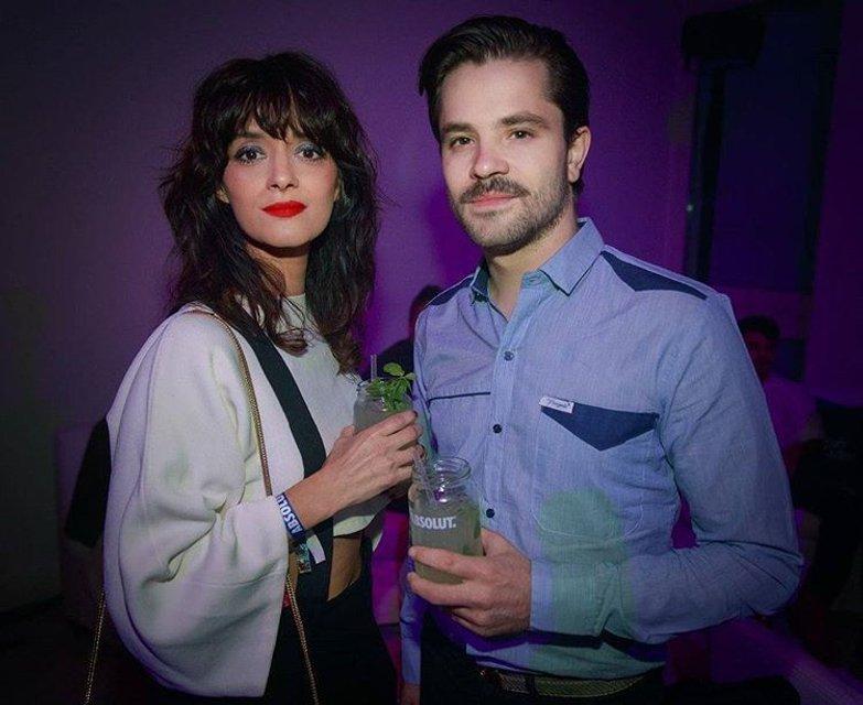 Фелипе Коломбо с женой - фото 63583