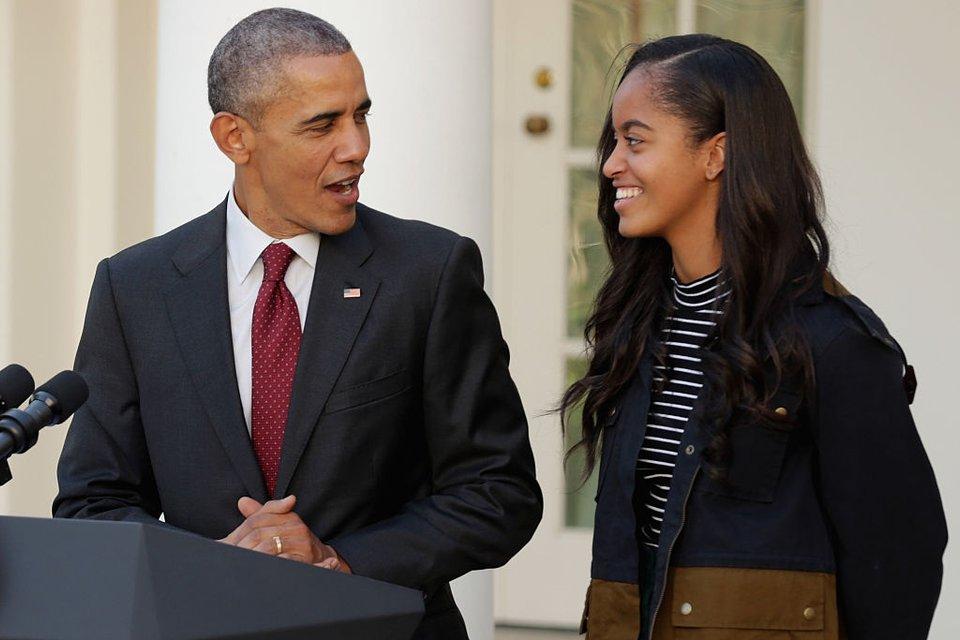 Барак Обама с Малией - фото 64255