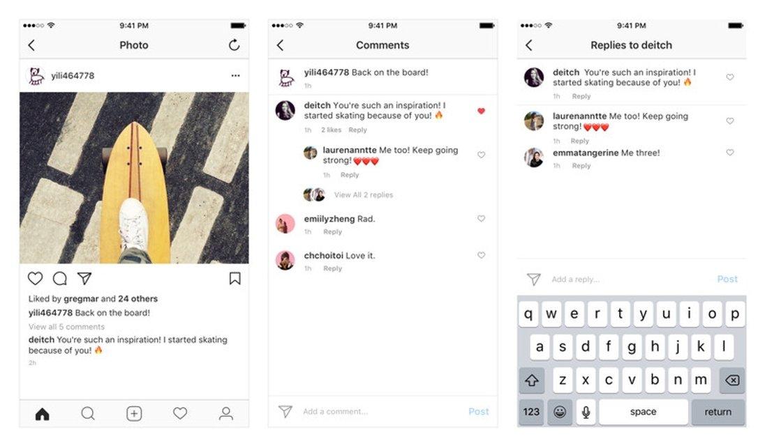 Instagram вводит ветвление в комментариях, как в Facebook - фото 66973