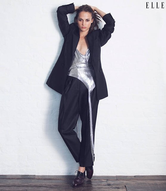 Алисия Викандер снялась для обложки ELLE - фото 62633
