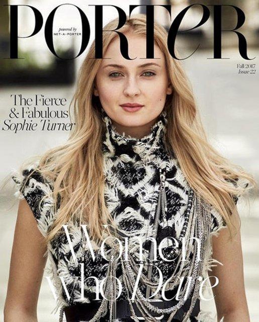 Софи Тернер попала на обложку модного глянца - фото 63636