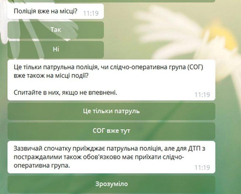 Бывший полицейский создал Telegram-бота, который поможет при ДТП - фото 70392