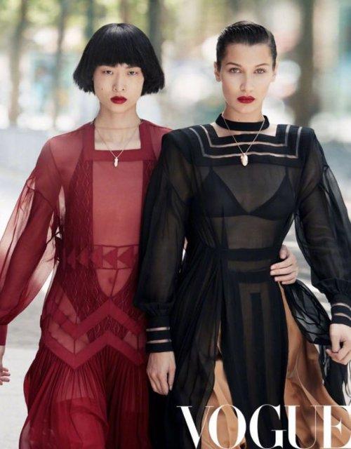 Белла Хадид без белья украсит обложку китайского глянца - фото 66441