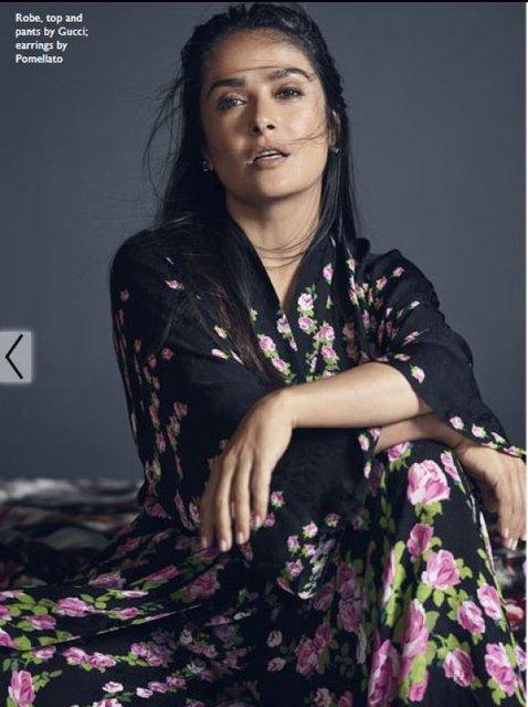 Сальма Хайек покорила красотой в элегантном платье - фото 65669