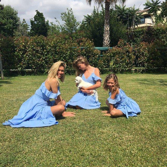 Брежнева с дочками улетела в Италию - фото 67073
