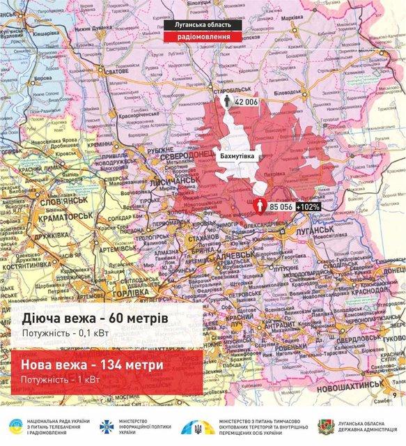 Телевышка в Луганской области на карте - фото 63843