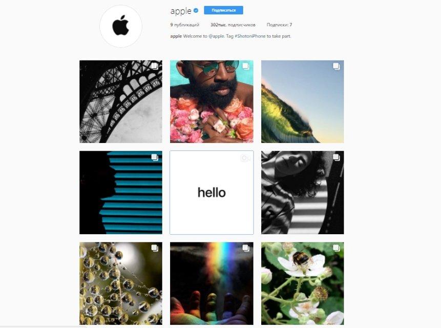Apple появился в Instagram: за 20 часов уже более 300 000 подписчиков - фото 64487