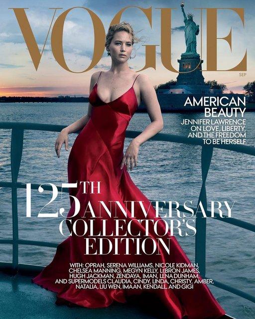 Дженнифер Лоуренс для Vogue - фото 65097