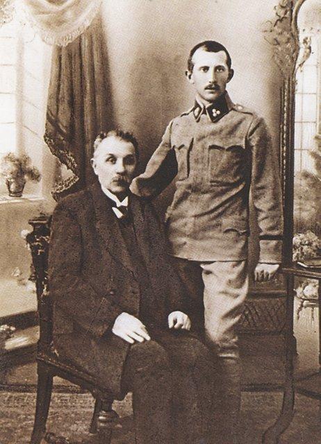 Євген Коновалець з батьком - фото 67852