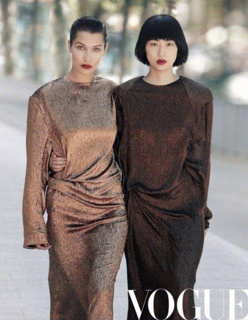 Белла Хадид без белья украсит обложку китайского глянца - фото 66436