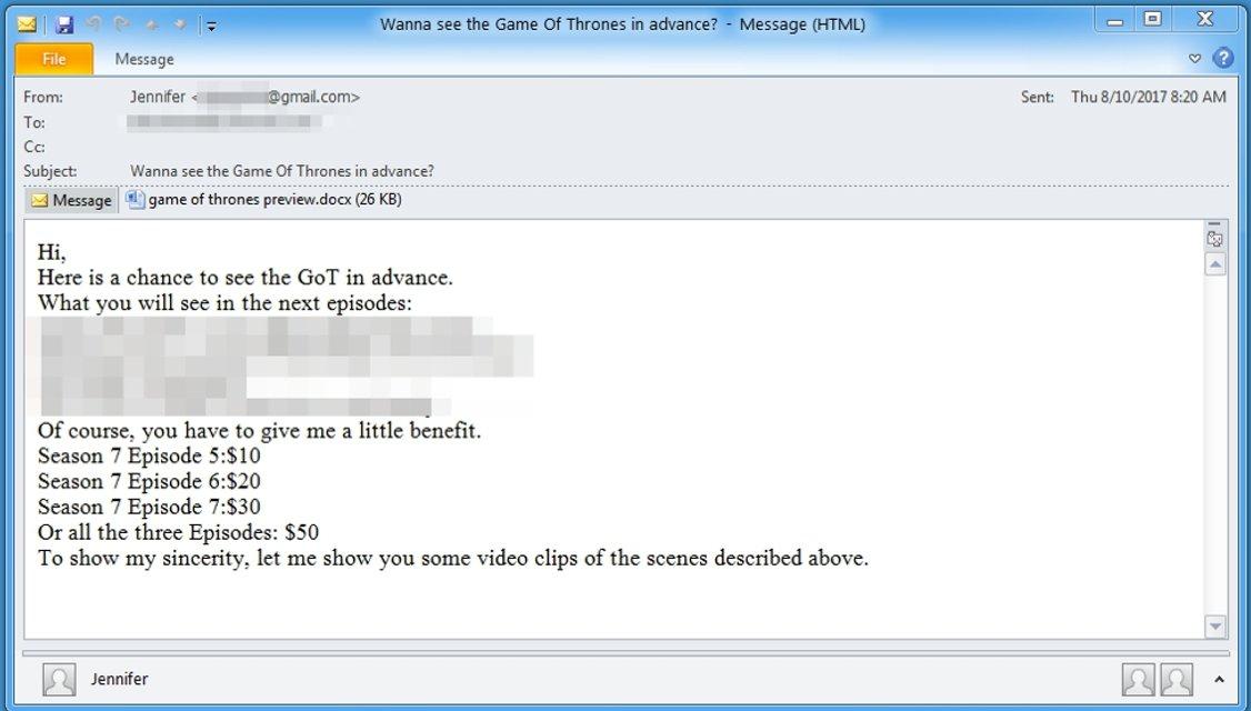 Игра Престолов 7 сезон: хакеры запустили вирус, продающий спойлеры к сериалу - фото 69675