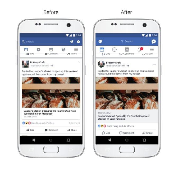 Facebook презентует новый дизайн мобильного приложения - фото 66864