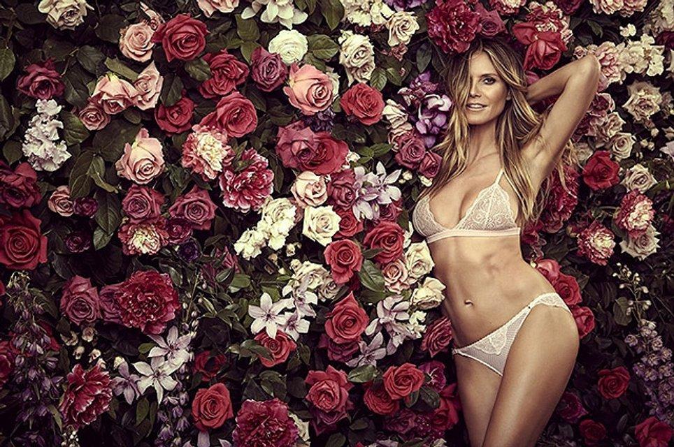 Сексуальная Хайди Клум в рекламе своей коллекции нижнего белья: фото - фото 67475