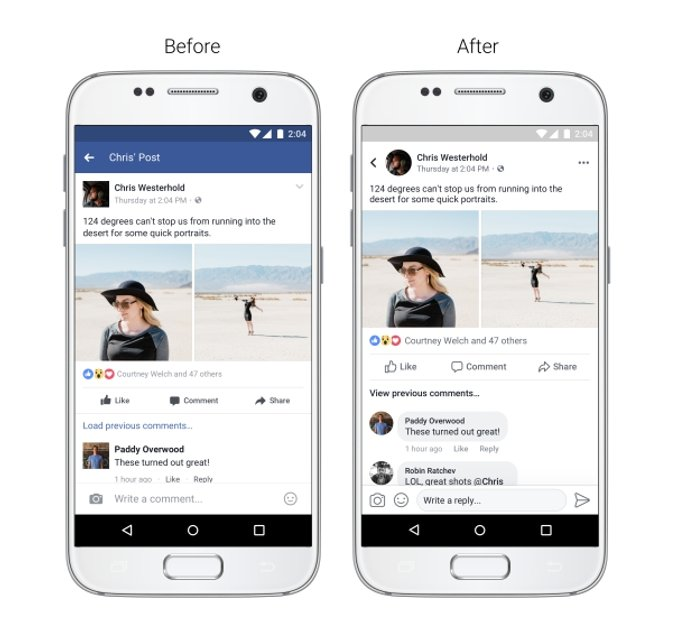 Facebook презентует новый дизайн мобильного приложения - фото 66865