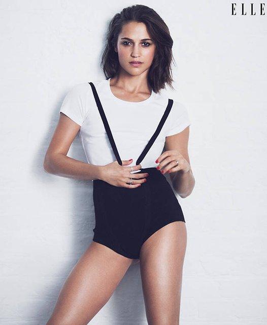 Алисия Викандер снялась для обложки ELLE - фото 62632
