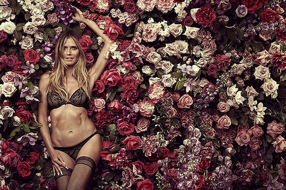 Сексуальная Хайди Клум в рекламе своей коллекции нижнего белья: фото - фото 67476