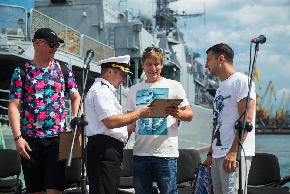 Зеленский, Кошевой и Казанин встретились с украинскими моряками в Одессе - фото 63689