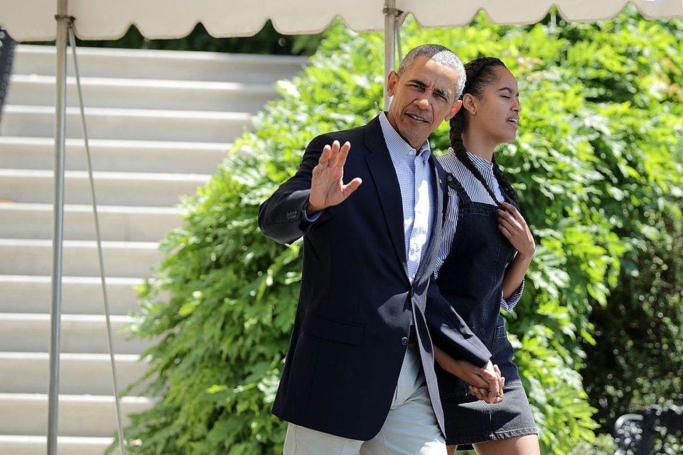 Барак Обама с Малией - фото 64257