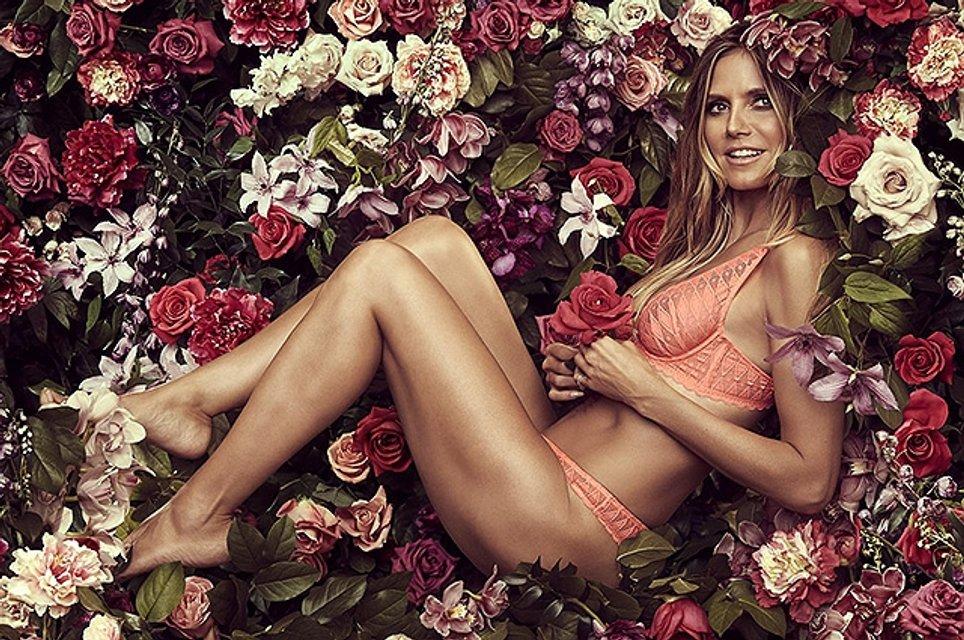 Сексуальная Хайди Клум в рекламе своей коллекции нижнего белья: фото - фото 67477