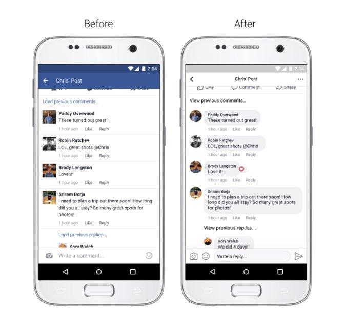 Facebook презентует новый дизайн мобильного приложения - фото 66863