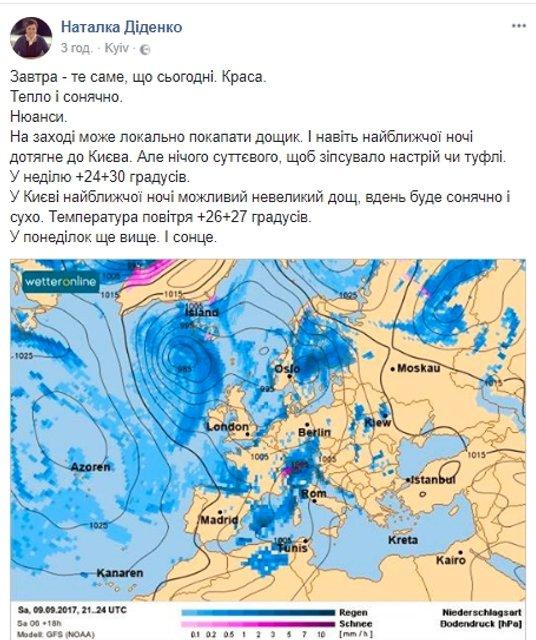 Погода на выходные: в Украине ожидают потепление - фото 72652