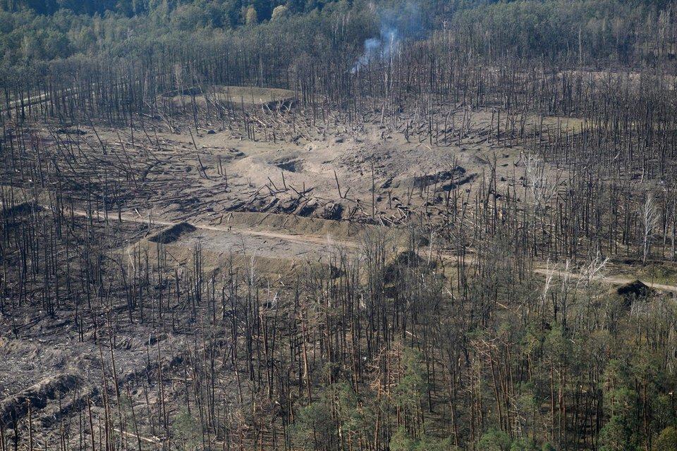 В сети появились фото последствий взрывов в Калиновке с высоты птичьего полета - фото 77431