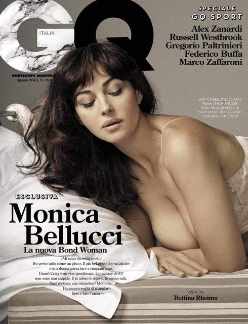 Моника Беллуччи украсила обложки многих журналов - фото 77672