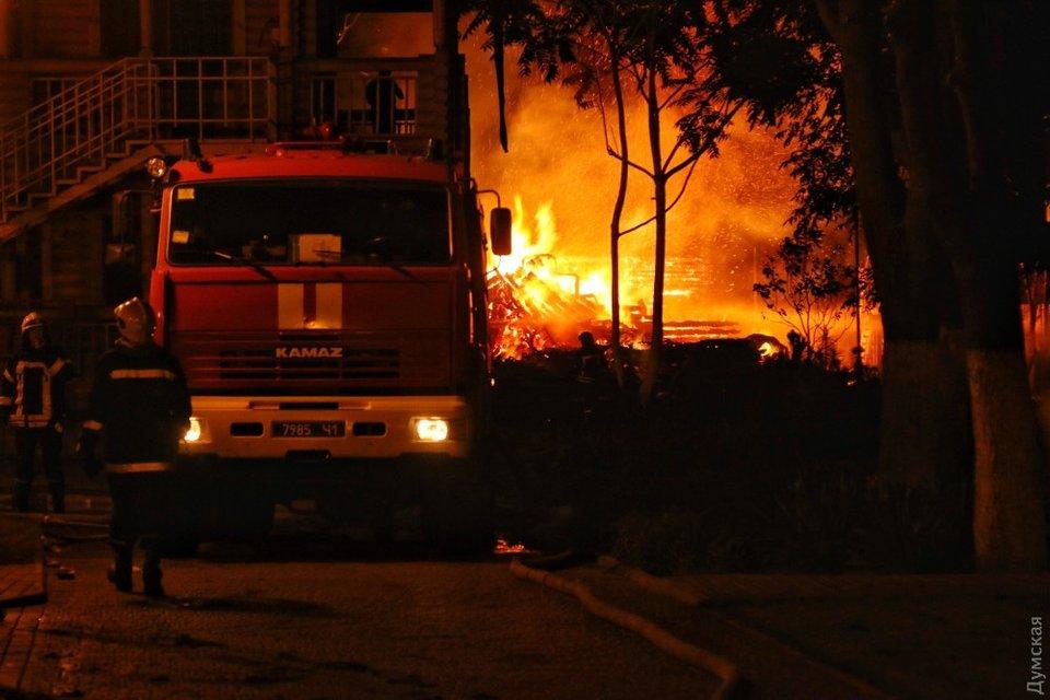 """Пожар в детском лагере """"Виктория"""" - фото 74343"""
