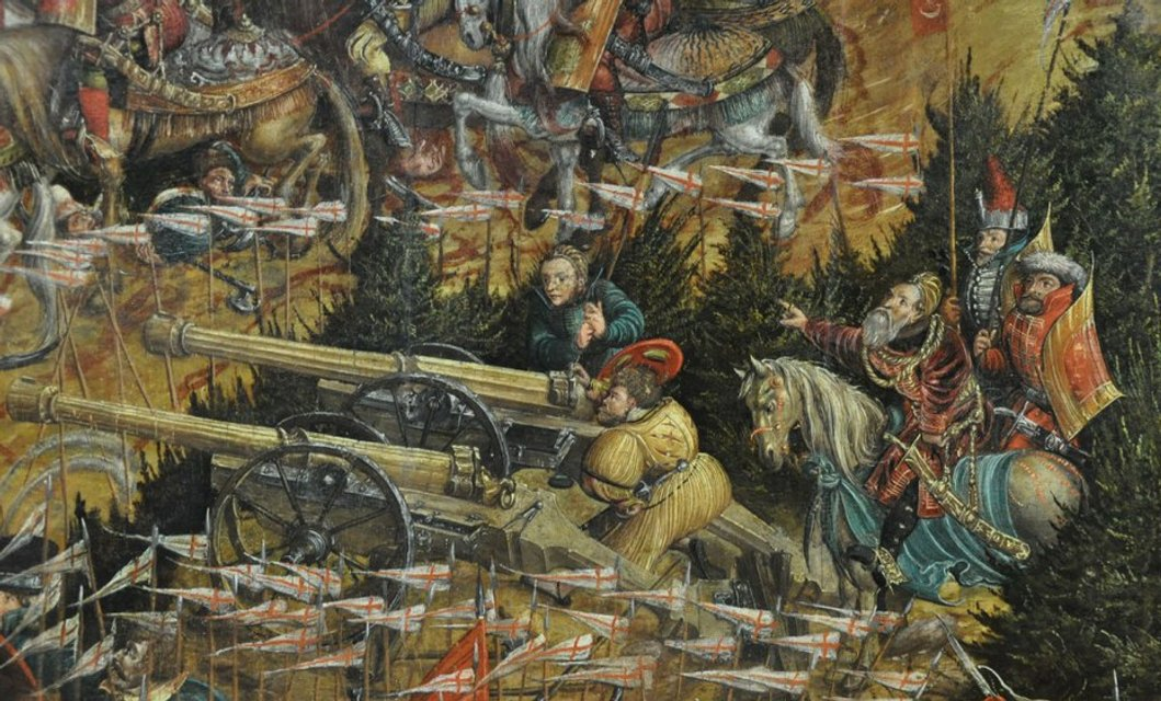 Князь Константин Острожский отдает приказы артиллеристам - фото 72581
