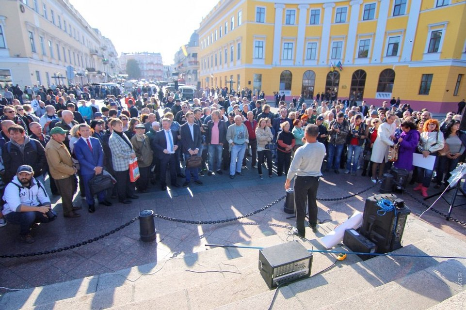 В Одессе закончился митинг Саакашвили - фото 77682