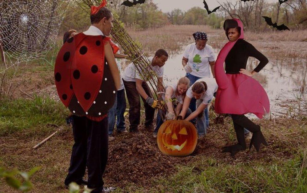 Веселого Хэллоуина от Обамы - фото 75006