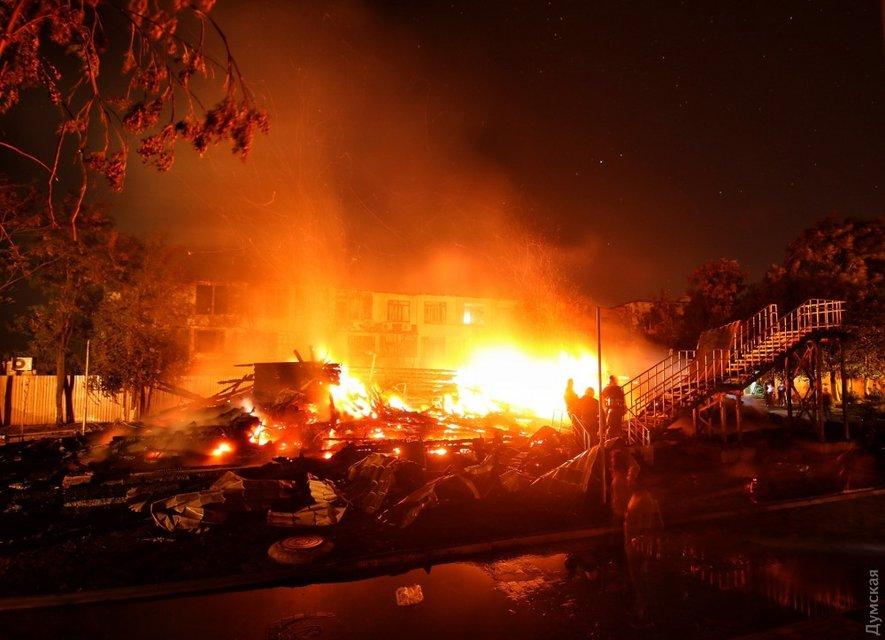"""Пожар в детском лагере """"Виктория"""" - фото 74341"""