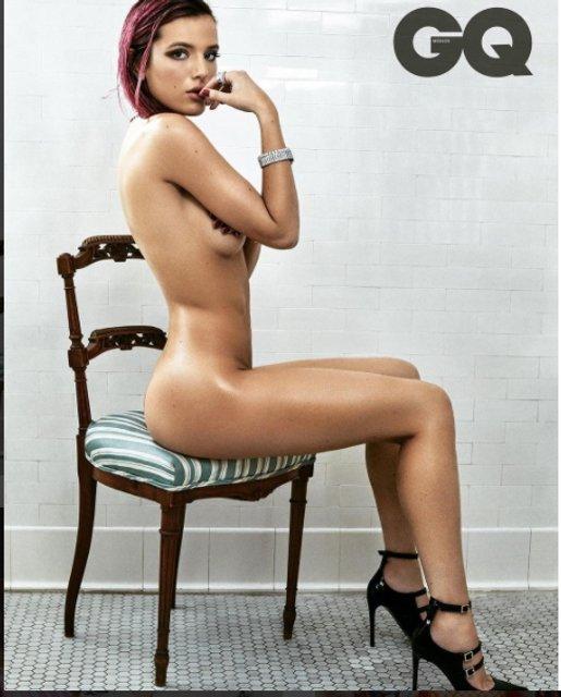 Обнаженная Белла Торн появилась на страницах модного глянца - фото 77583