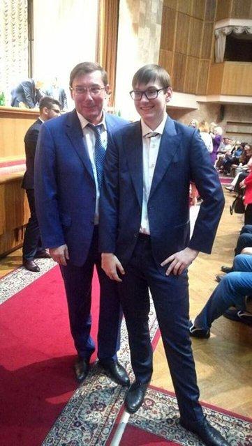 В 2017 году Луценко также отправил младшего сына в университет - фото 72649