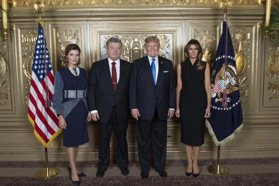 Марина Порошенко и Мелания Трамп встретились в Нью-Йорке - фото 75743