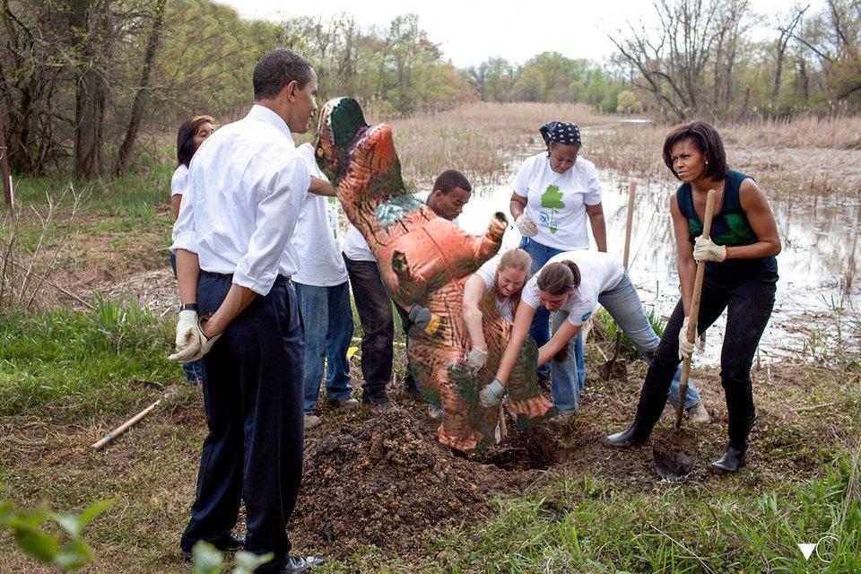 Обама занялся археологией - фото 75001