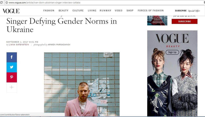 Американский Vogue об Иване Дорне: Он игнорирует гендерные правила и законы в Украине - фото 71244