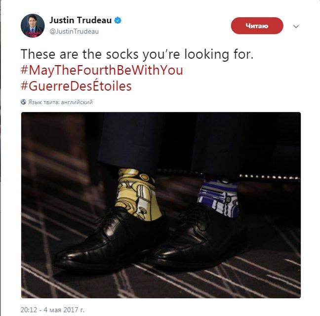 Носки Джастина Трюдо на выступлении в ООН взорвали сеть - фото 75617