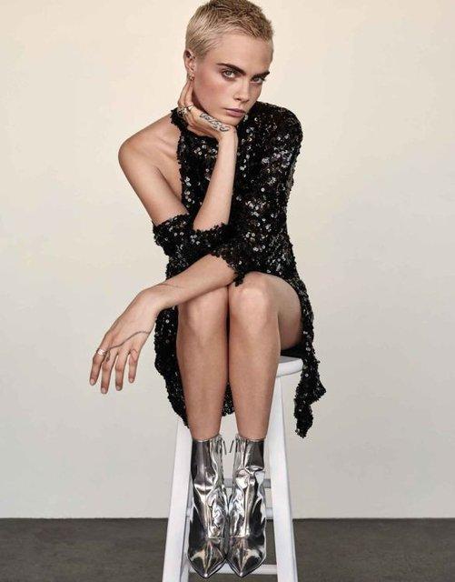 Кара Делевинь снялась в элегантной фотосессии для Edit - фото 77496