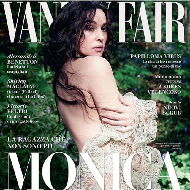 Моника Беллуччи украсила обложки многих журналов - фото 77656
