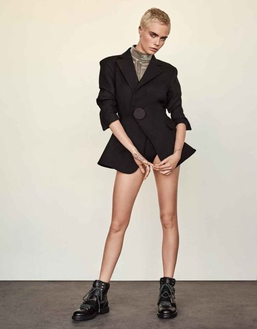 Кара Делевинь снялась в элегантной фотосессии для Edit - фото 77498