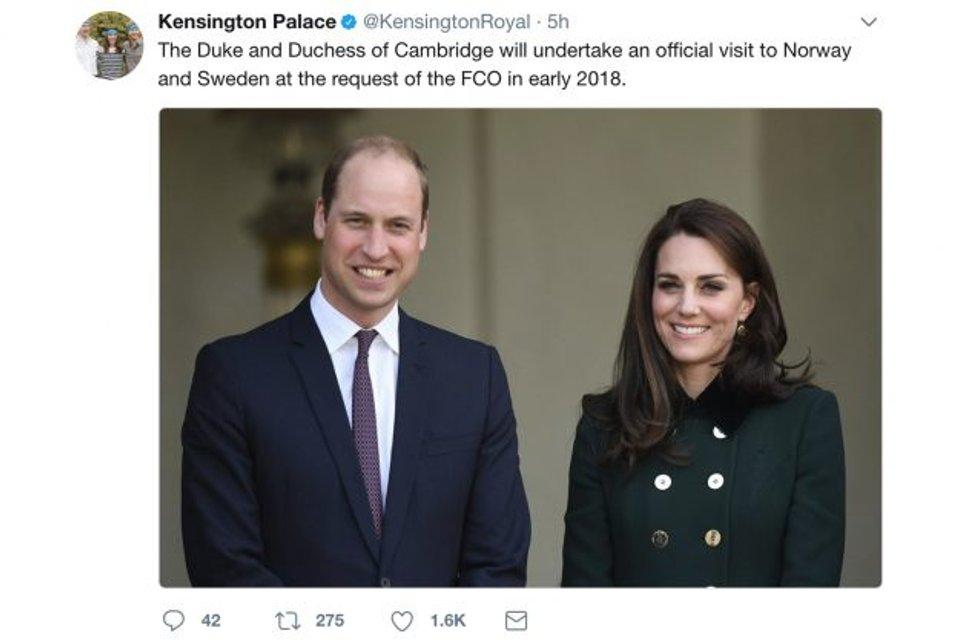 Кейт Миддлтон и принц Уильям анонсируют визит в Скандинавию - фото 85475