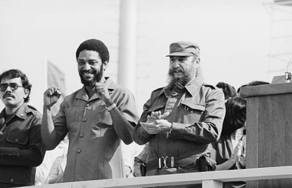 Морис Бишоп и Фидель Кастро - фото 84949