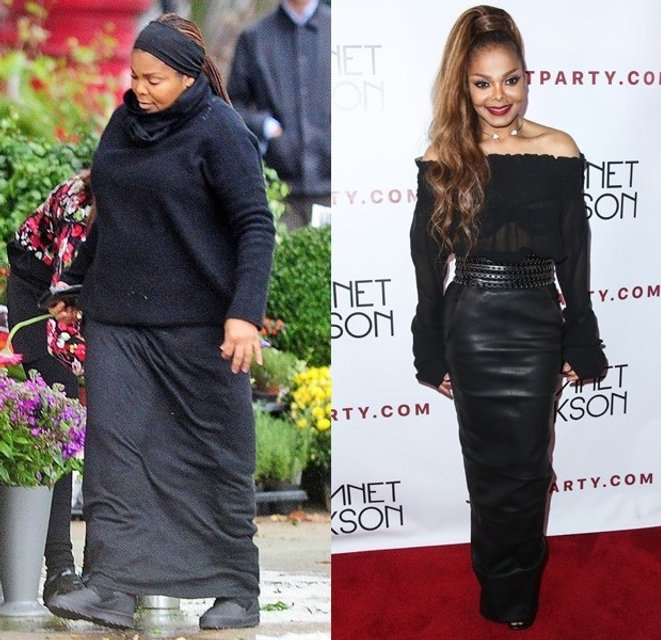 Джанет Джексон до и после похудения - фото 80329
