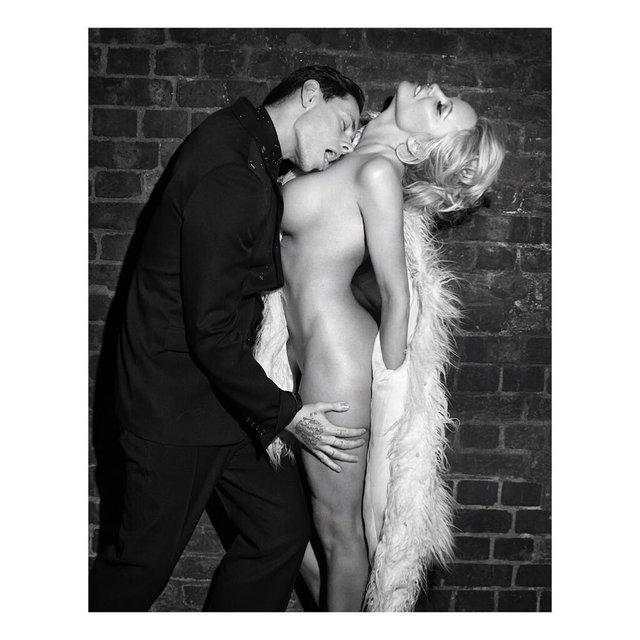 Памела Андерсон полностью оголилась для модного глянца - фото 85367