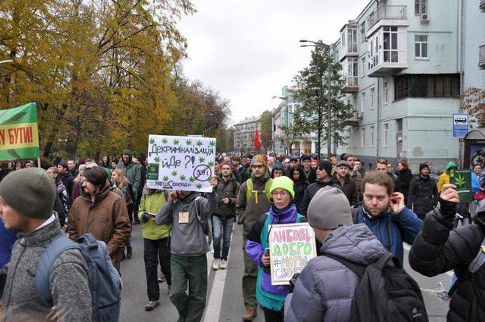 Активисты на конопляном марше свободы - фото 85588