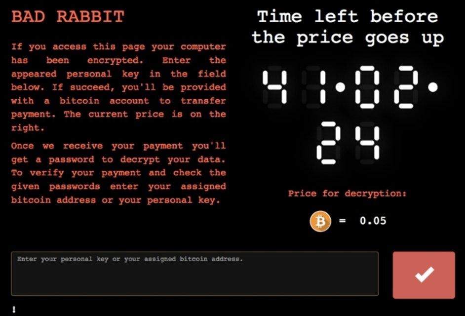 Вирус Bad Rabbit дает 48 часов на выкуп - фото 84242