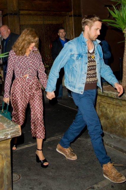 Ева Мендес и Райан Гослинг провели романтический вечер - фото 77902
