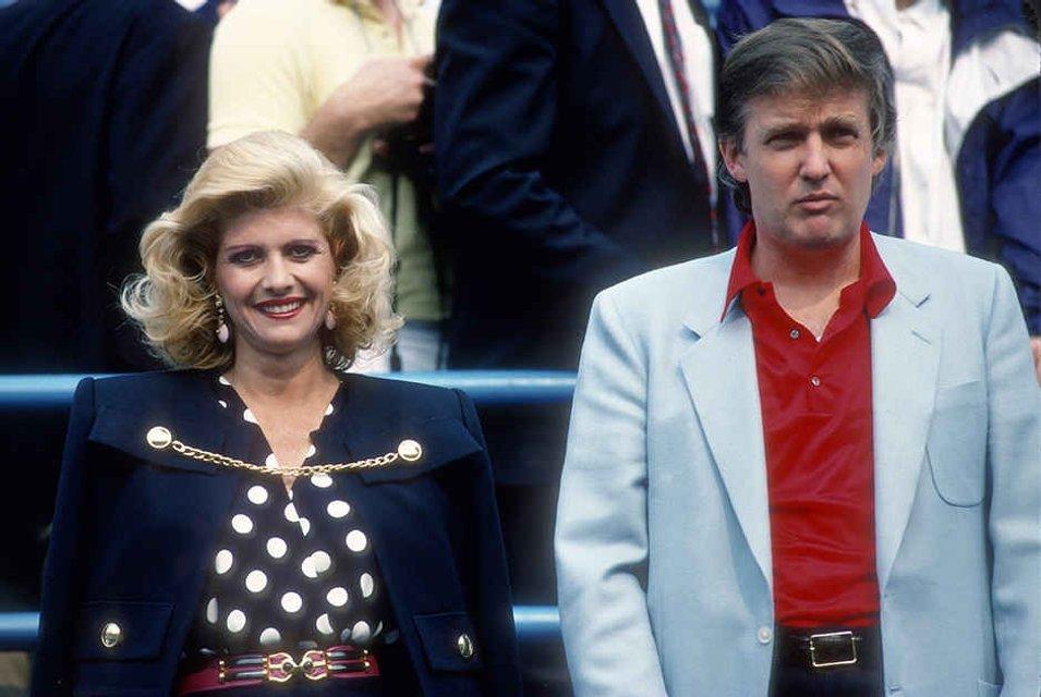 Фото Дональда Трампа с Иваной Трамп в молодости - фото 79729