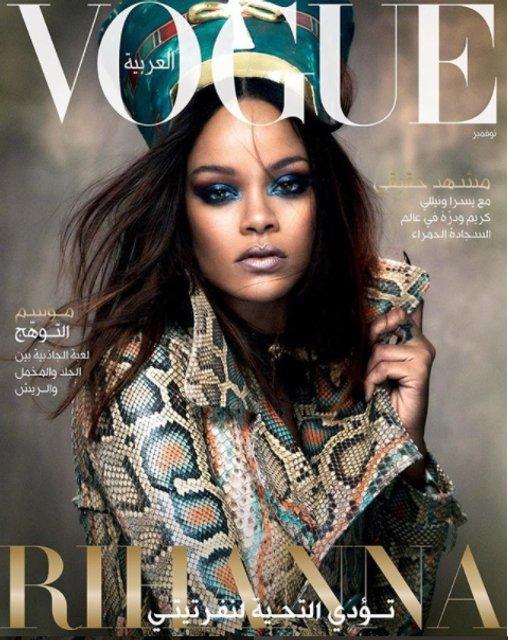 Рианна в образе Нефертити украсила обложку Vogue - фото 85188